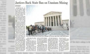 Justices Back State Ban on Uranium Mining